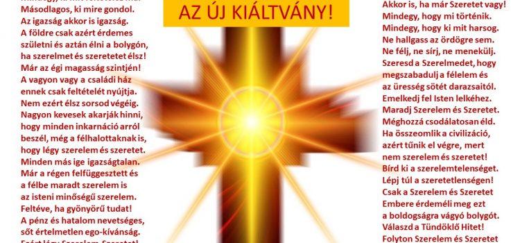 AZ ÚJ KIÁLTVÁNY!